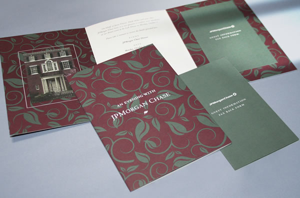 JPMorgan Chase Invite - Integrated Printing & Graphics