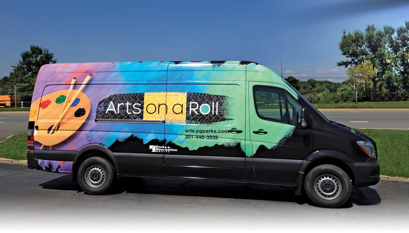 Arts On a Roll Van Wrap